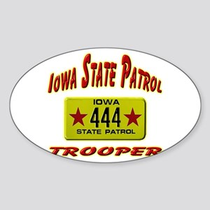 Iowa Highway Patrol Sticker (Oval)