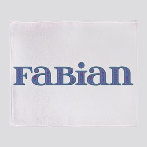 Fabian Blue Glass Throw Blanket