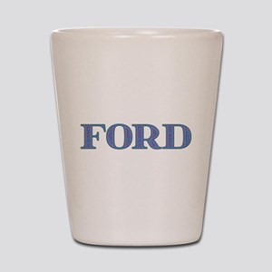 Ford Blue Glass Shot Glass