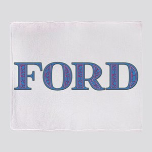 Ford Blue Glass Throw Blanket
