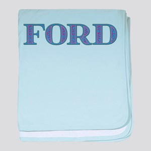 Ford Blue Glass baby blanket
