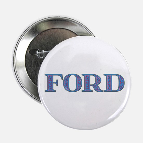 Ford Blue Glass Button