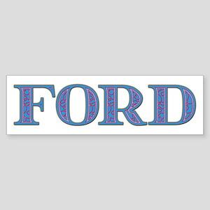 Ford Blue Glass Bumper Sticker