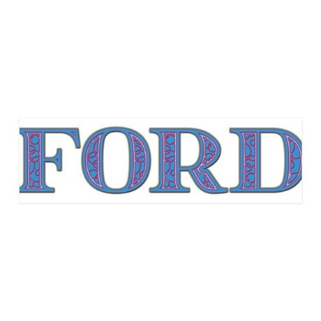 Ford Blue Glass 42x14 Wall Peel  sc 1 st  CafePress & Ford Wall Decals - CafePress