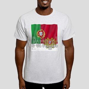Silky Flag of Portugal Ash Grey T-Shirt