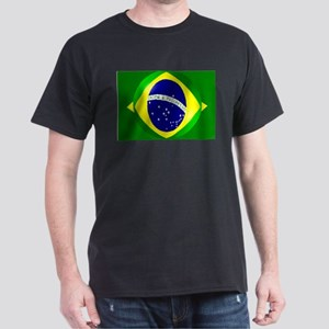 Brazil flag with bubble Dark T-Shirt