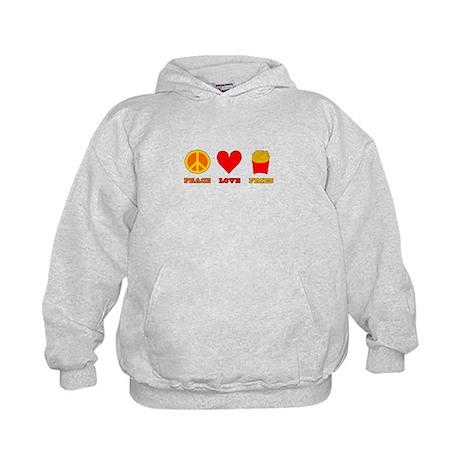 Peace Love Fries Kids Hoodie