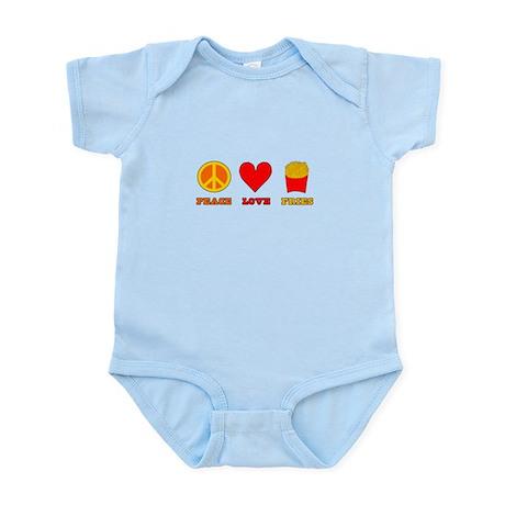 Peace Love Fries Infant Bodysuit