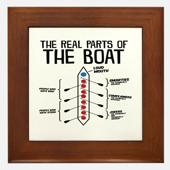 The Real Parts Of The Boat Framed Tile