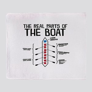 The Real Parts Of The Boat Throw Blanket