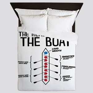 The Real Parts Of The Boat Queen Duvet