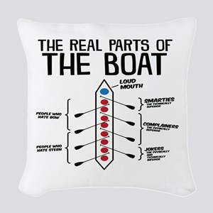 The Real Parts Of The Boat Woven Throw Pillow