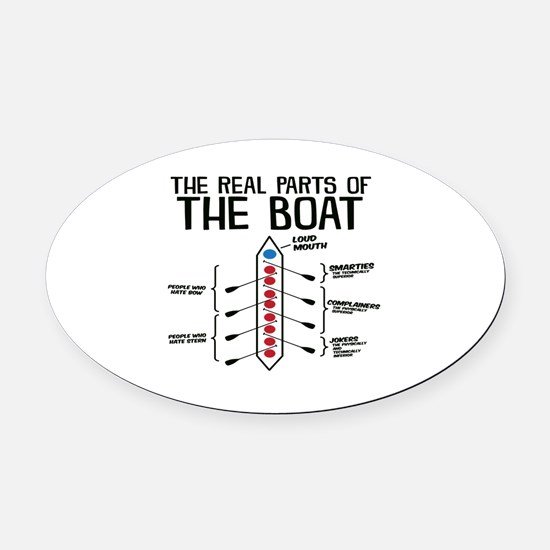 The Real Parts Of The Boat Oval Car Magnet