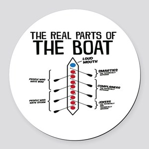 The Real Parts Of The Boat Round Car Magnet