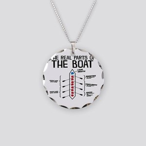 The Real Parts Of The Boat Necklace Circle Charm