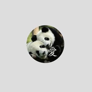 Chinese Loving Little Pandas Mini Button