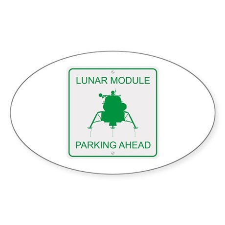 Lunar Module Parking Sticker (Oval)