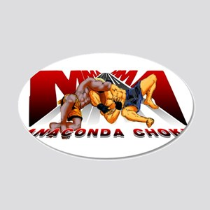 Ninja Skin MMA Anaconda Choke 22x14 Oval Wall Peel