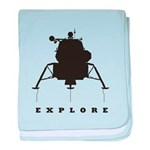 Lunar Module / Explore baby blanket