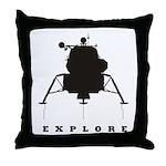 Lunar Module / Explore Throw Pillow