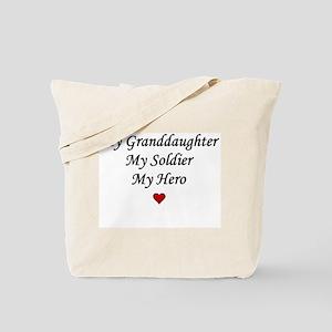 My Granddaughter Soldier Hero Tote Bag