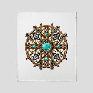 Beads and Arrows Mandala Throw Blanket