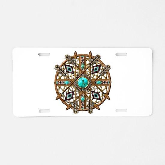 Beads and Arrows Mandala Aluminum License Plate