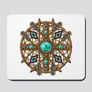 Beads and Arrows Mandala Mousepad