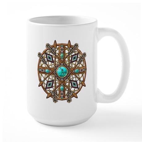 Beads and Arrows Mandala Large Mug