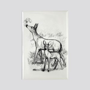 Deer Family Rectangle Magnet