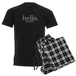 Hello I'm fluffy Men's Dark Pajamas