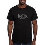 Hello I'm fluffy Men's Fitted T-Shirt (dark)