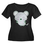 Smile Women's Plus Size Scoop Neck Dark T-Shirt