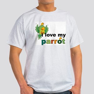 I Love My Parrot Ash Grey T-Shirt