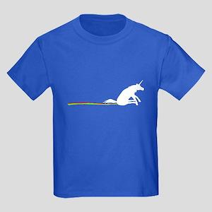 Unicorn Rainbow Shuffle Kids Dark T-Shirt