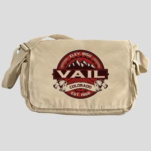 Vail Red Messenger Bag