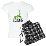 T-Rex Hates Push-Ups Women's Light Pajamas