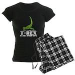 T-Rex Hates Push-Ups Women's Dark Pajamas