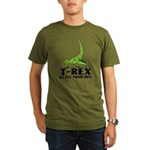 T-Rex Hates Push-Ups Organic Men's T-Shirt (dark)