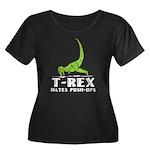 T-Rex Hates Push-Ups Women's Plus Size Scoop Neck