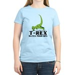 T-Rex Hates Push-Ups Women's Light T-Shirt