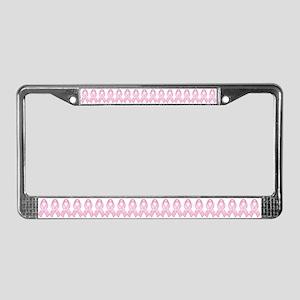Pink Ribbon Hope License Plate Frame