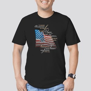 US Pledge - Men's Fitted T-Shirt (dark)