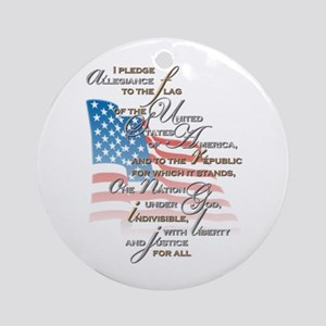 US Pledge - Ornament (Round)