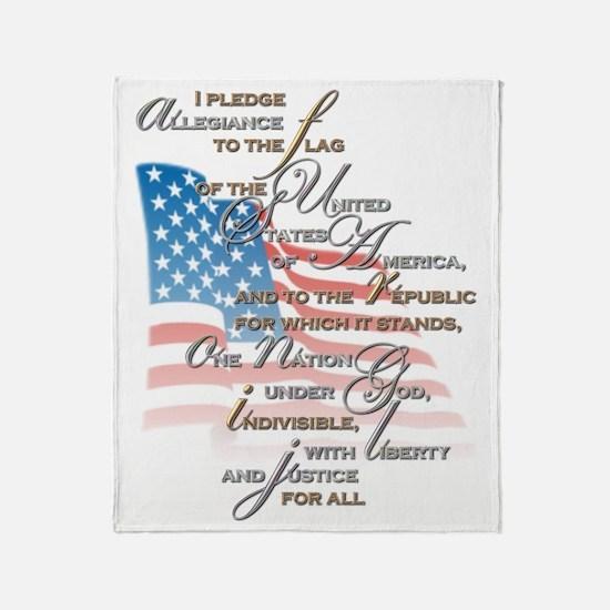 US Pledge - Throw Blanket