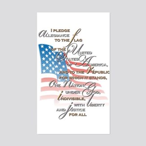 US Pledge - Sticker (Rectangle)