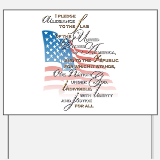 US Pledge - Yard Sign