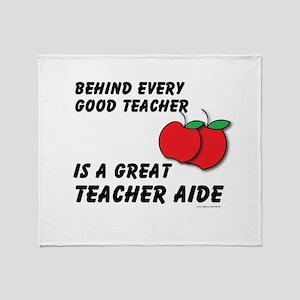 Great Teacher Aide Throw Blanket
