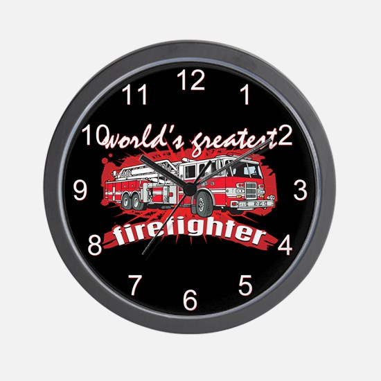 Worlds Greatest Firefighter Wall Clock