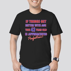 Funny 43rd Birthdy designs Men's Fitted T-Shirt (d